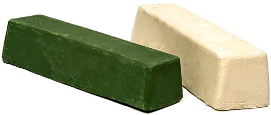 green and white polishing bars